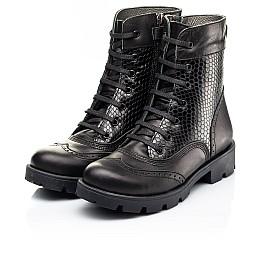Детские демисезонные ботинки Woopy Fashion черные для девочек натуральная кожа размер 33-39 (7211) Фото 3