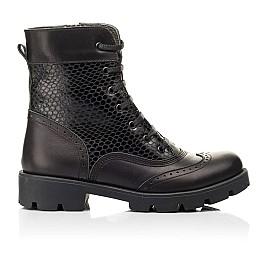 Детские демисезонные ботинки Woopy Fashion черные для девочек натуральная кожа размер 33-39 (7211) Фото 4