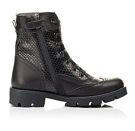 Детские демисезонные ботинки Woopy Fashion черные для девочек натуральная кожа размер 33-39 (7211) Фото 5