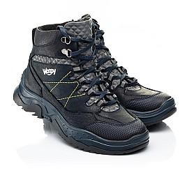 Детские демисезонные ботинки Woopy Fashion темно-синие для мальчиков натуральный нубук OIL размер 29-37 (7212) Фото 1