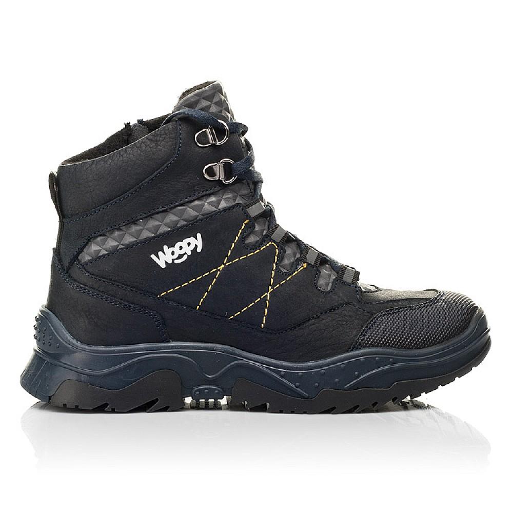 Детские ботинки еврозима Woopy Fashion темно-синие для мальчиков натуральный нубук OIL размер 29-39 (7212) Фото 4