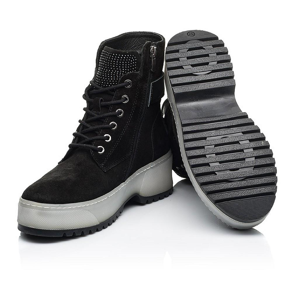 Детские зимние ботинки на меху Woopy Fashion черные для девочек натуральная замша размер 35-40 (7216) Фото 2