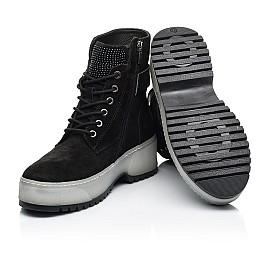 Детские зимние ботинки на меху Woopy Fashion черные для девочек натуральная замша размер 36-40 (7216) Фото 2