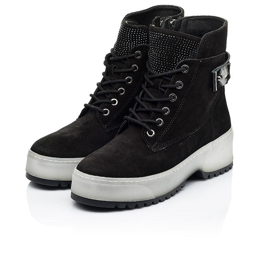 Детские зимние ботинки на меху Woopy Fashion черные для девочек натуральная замша размер 35-40 (7216) Фото 3