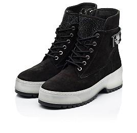 Детские зимние ботинки на меху Woopy Fashion черные для девочек натуральная замша размер 36-40 (7216) Фото 3