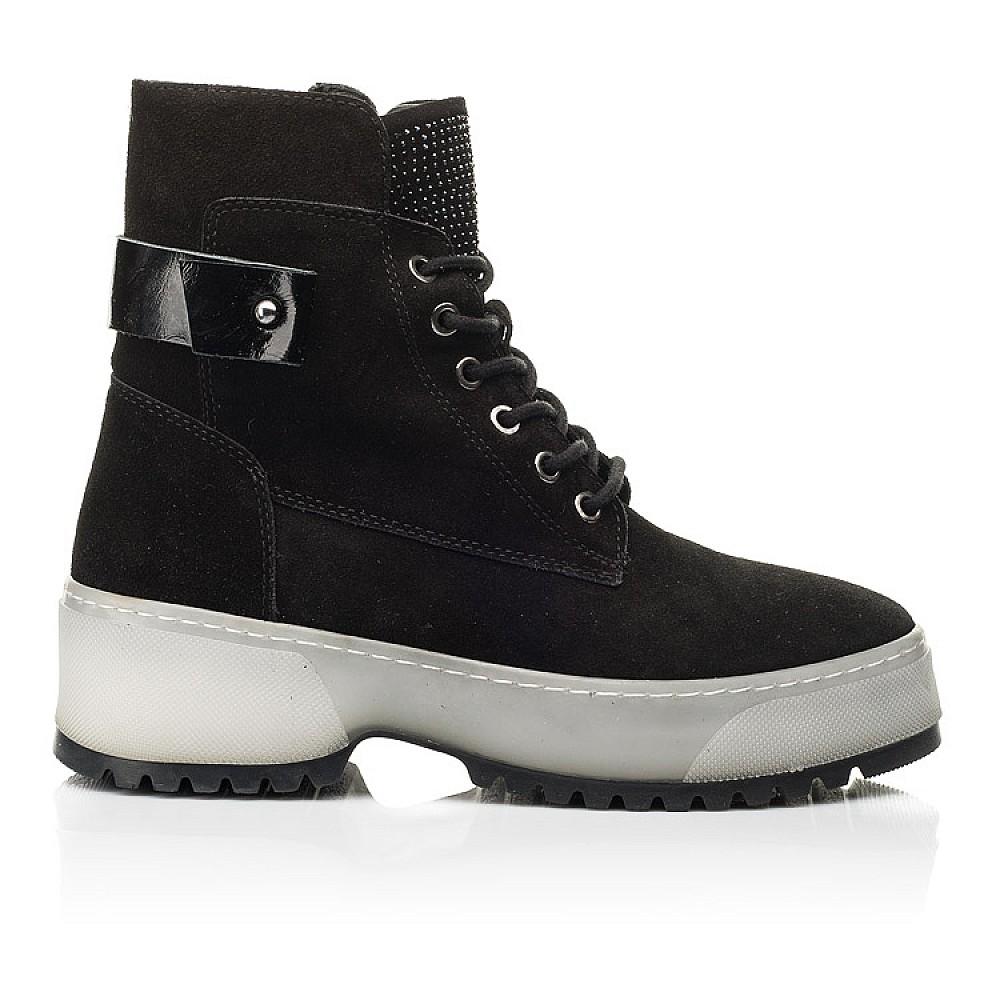 Детские зимние ботинки на меху Woopy Fashion черные для девочек натуральная замша размер 35-40 (7216) Фото 4