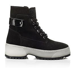 Детские зимние ботинки на меху Woopy Fashion черные для девочек натуральная замша размер 36-40 (7216) Фото 4