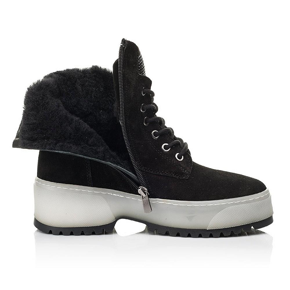 Детские зимние ботинки на меху Woopy Fashion черные для девочек натуральная замша размер 35-40 (7216) Фото 5