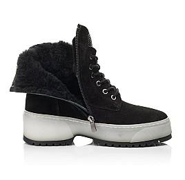 Детские зимние ботинки на меху Woopy Fashion черные для девочек натуральная замша размер 36-40 (7216) Фото 5