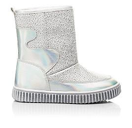 Детские зимние ботинки на меху Woopy Fashion серебряные для девочек натуральная кожа размер 26-36 (7217) Фото 4