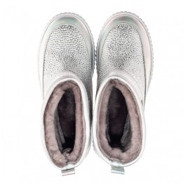 Детские зимние ботинки на меху Woopy Fashion серебряные для девочек натуральная кожа размер 26-36 (7217) Фото 5