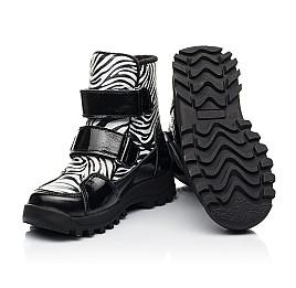Детские ботинки еврозима Woopy Fashion черные для девочек натуральная лаковая кожа и нубук размер 22-31 (7219) Фото 2
