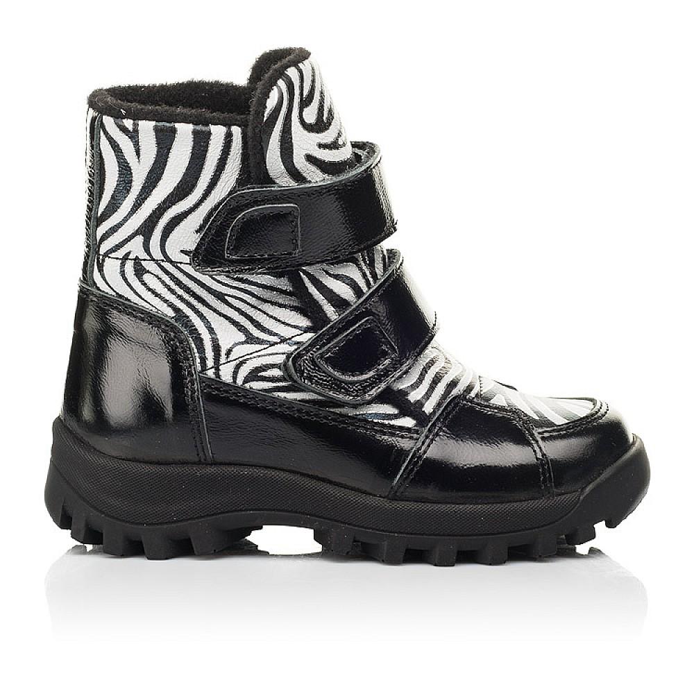 Детские ботинки еврозима Woopy Fashion черные для девочек натуральная лаковая кожа и нубук размер 22-31 (7219) Фото 4