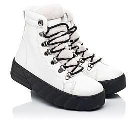 Детские зимние ботинки на меху Woopy Fashion белые для девочек натуральная кожа размер 32-38 (7220) Фото 1