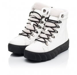 Детские зимние ботинки на меху Woopy Fashion белые для девочек натуральная кожа размер 32-38 (7220) Фото 2