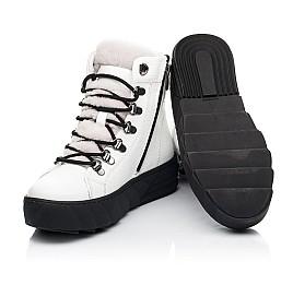 Детские зимние ботинки на меху Woopy Fashion белые для девочек натуральная кожа размер 32-38 (7220) Фото 3