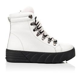 Детские зимние ботинки на меху Woopy Fashion белые для девочек натуральная кожа размер 32-38 (7220) Фото 4