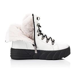 Детские зимние ботинки на меху Woopy Fashion белые для девочек натуральная кожа размер 32-38 (7220) Фото 5