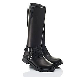Детские зимние сапоги на меху Woopy Fashion черные для девочек натуральная кожа размер 33-39 (7222) Фото 1