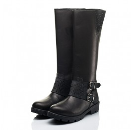 Детские зимние сапоги на меху Woopy Fashion черные для девочек натуральная кожа размер 33-39 (7222) Фото 3