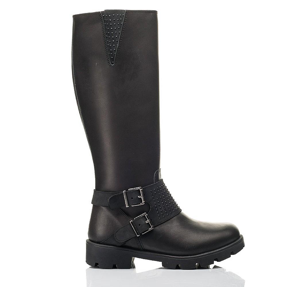 Детские зимние сапоги на меху Woopy Fashion черные для девочек натуральная кожа размер 33-39 (7222) Фото 4