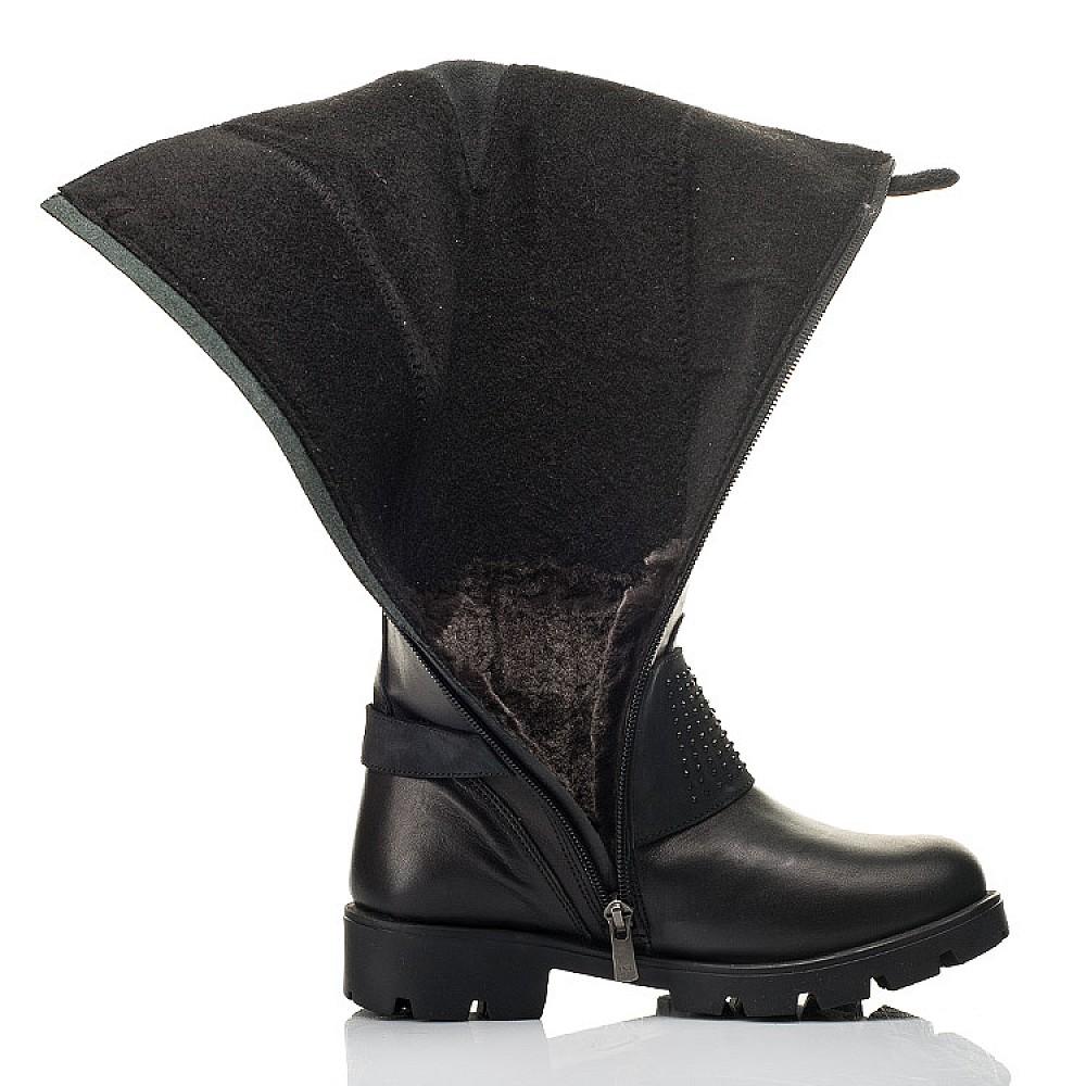 Детские зимние сапоги на меху Woopy Fashion черные для девочек натуральная кожа размер 33-39 (7222) Фото 5