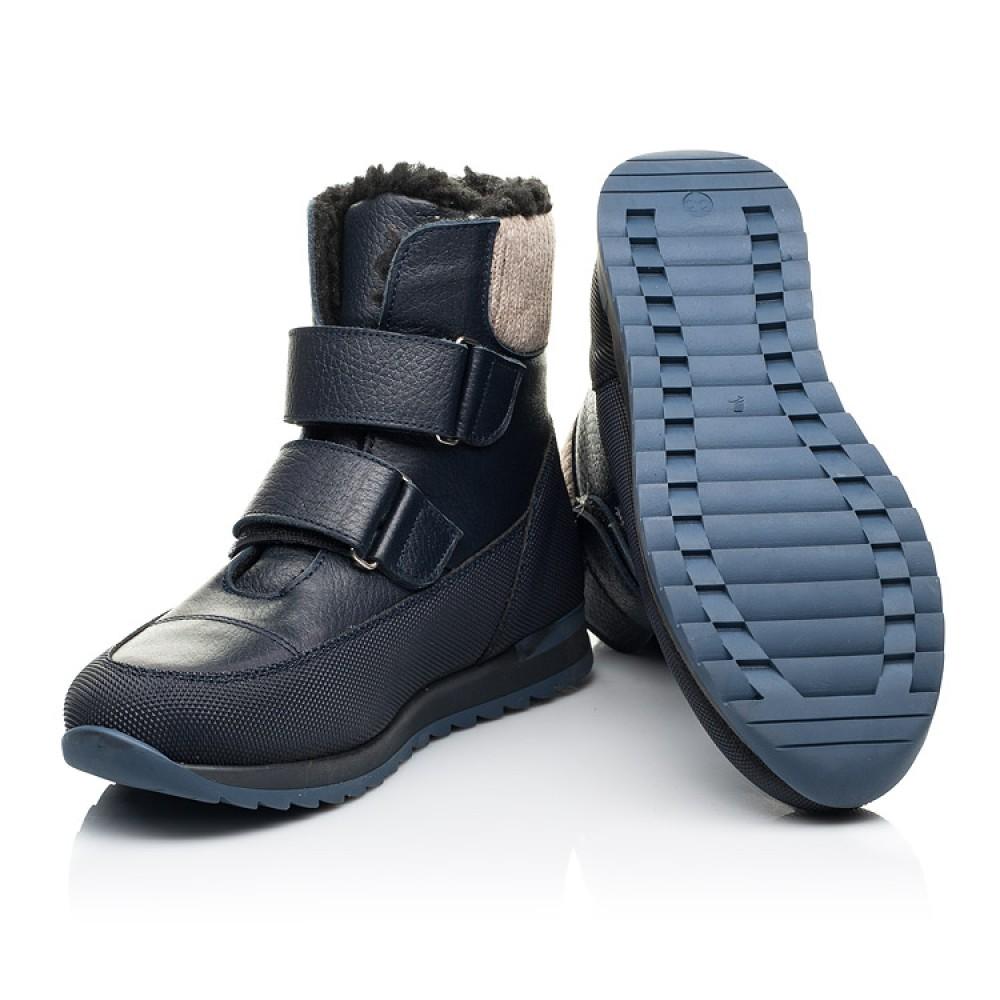Детские зимние ботинки на шерсти Woopy Fashion темно-синие для мальчиков натуральная кожа размер 25-33 (7224) Фото 2