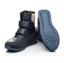 Детские зимние ботинки на шерсти Woopy Fashion темно-синие для мальчиков натуральная кожа размер 25-30 (7224) Фото 2