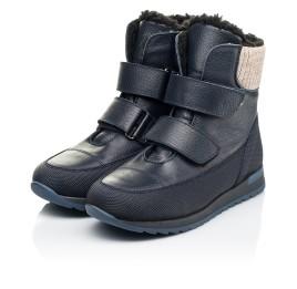 Детские зимние ботинки на шерсти Woopy Fashion темно-синие для мальчиков натуральная кожа размер 25-30 (7224) Фото 3