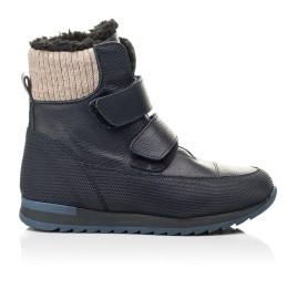 Детские зимние ботинки на шерсти Woopy Fashion темно-синие для мальчиков натуральная кожа размер 25-30 (7224) Фото 4