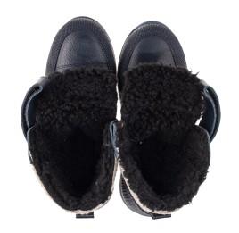 Детские зимние ботинки на шерсти Woopy Fashion темно-синие для мальчиков натуральная кожа размер 25-30 (7224) Фото 5