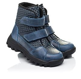 Детские демисезонные ботинки Woopy Fashion синие для мальчиков натуральная кожа размер 25-32 (7225) Фото 1