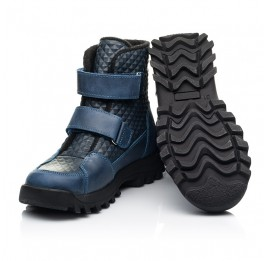 Детские демисезонные ботинки Woopy Fashion синие для мальчиков натуральная кожа размер 25-32 (7225) Фото 2