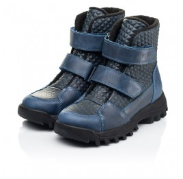 Детские демисезонные ботинки Woopy Fashion синие для мальчиков натуральная кожа размер 25-32 (7225) Фото 3