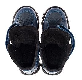 Детские демисезонные ботинки Woopy Fashion синие для мальчиков натуральная кожа размер 25-32 (7225) Фото 5