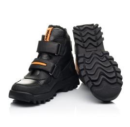Детские зимние ботинки на шерсти Woopy Fashion черные для мальчиков натуральная кожа, нубук размер 23-28 (7226) Фото 2