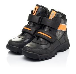 Детские зимние ботинки на шерсти Woopy Fashion черные для мальчиков натуральная кожа, нубук размер 23-28 (7226) Фото 3