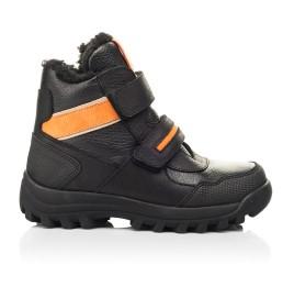 Детские зимние ботинки на шерсти Woopy Fashion черные для мальчиков натуральная кожа, нубук размер 23-28 (7226) Фото 4