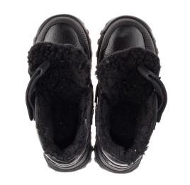 Детские зимние ботинки на шерсти Woopy Fashion черные для мальчиков натуральная кожа, нубук размер 23-28 (7226) Фото 5