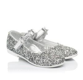 Детские туфли праздничные Woopy Fashion серебряные для девочек современный искусственный материал размер 28-36 (7227) Фото 1