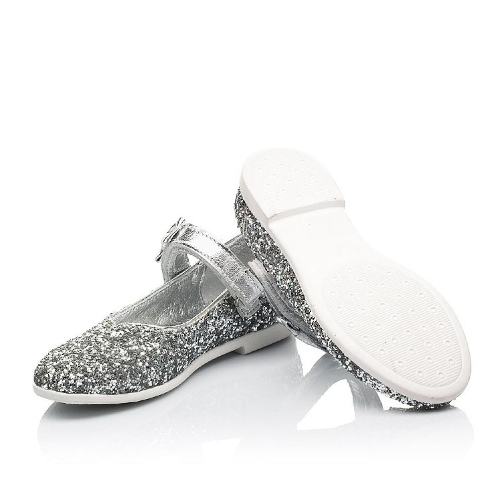 Детские туфли праздничные Woopy Fashion серебряные для девочек современный искусственный материал размер 28-36 (7227) Фото 2