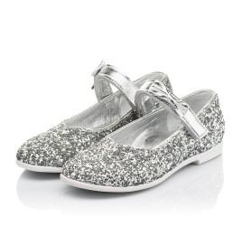 Детские туфли праздничные Woopy Fashion серебряные для девочек современный искусственный материал размер 28-36 (7227) Фото 3