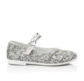 Детские туфли праздничные Woopy Fashion серебряные для девочек современный искусственный материал размер 28-36 (7227) Фото 4