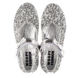 Детские туфли праздничные Woopy Fashion серебряные для девочек современный искусственный материал размер 28-36 (7227) Фото 5