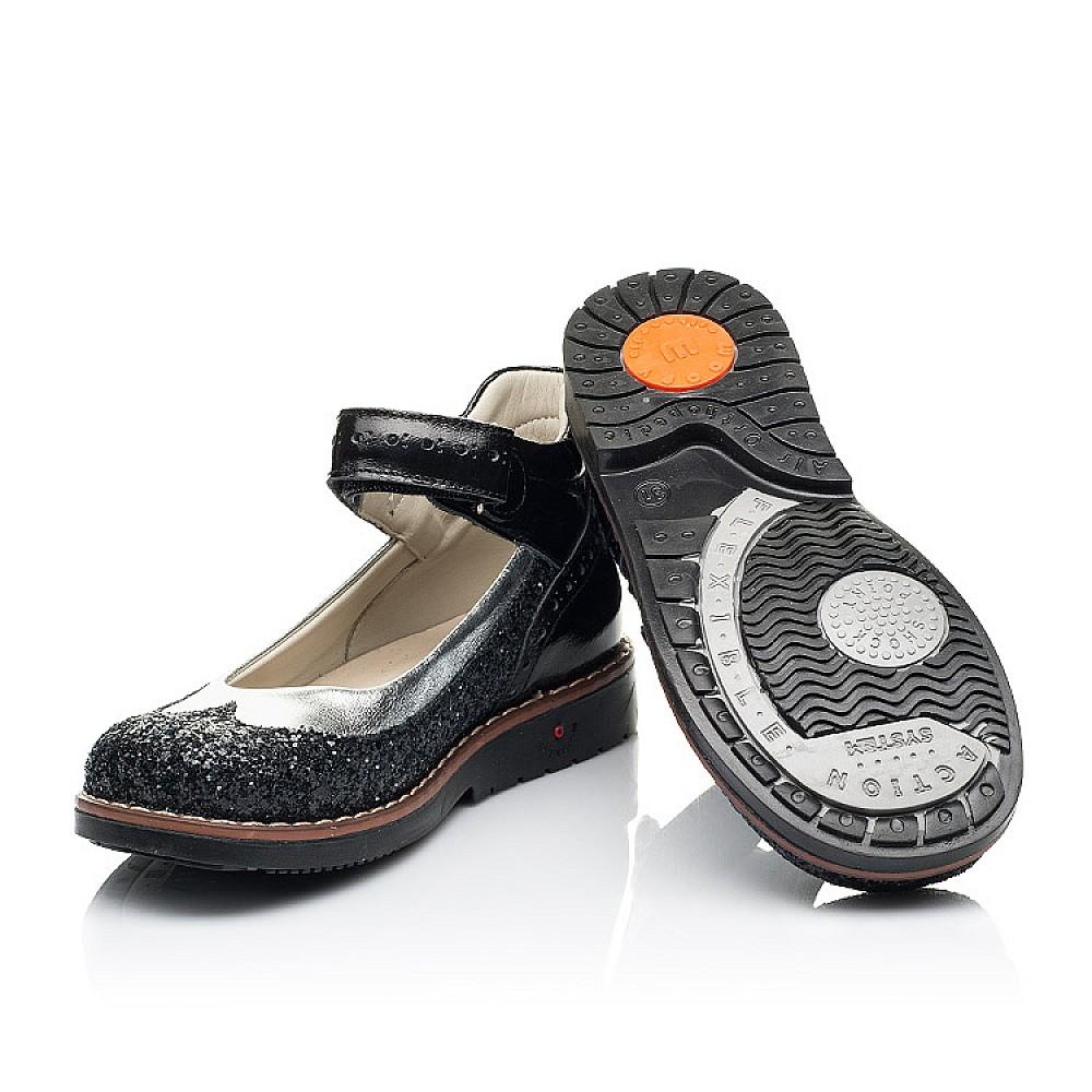 Детские туфли Woopy Orthopedic черные для девочек натуральная лаковая кожа / современный, модный текстиль размер 24-34 (7228) Фото 2