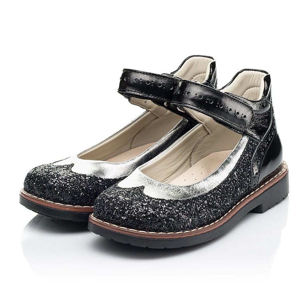 Детские туфли Woopy Orthopedic черные для девочек натуральная лаковая кожа / современный, модный текстиль размер 24-34 (7228) Фото 3