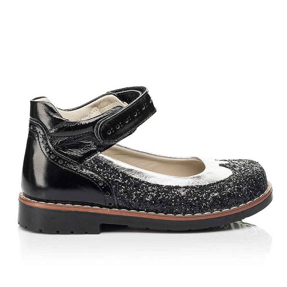 Детские туфли Woopy Orthopedic черные для девочек натуральная лаковая кожа / современный, модный текстиль размер 24-34 (7228) Фото 4