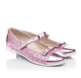 Детские туфли Woopy Fashion розовые для девочек натуральная кожа, искусственный материал  размер 28-36 (7230) Фото 1