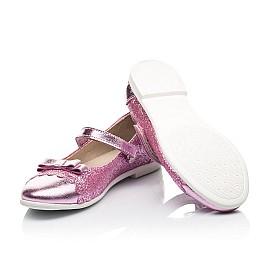 Детские туфли Woopy Fashion розовые для девочек натуральная кожа, искусственный материал  размер 28-36 (7230) Фото 2