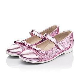 Детские туфли Woopy Fashion розовые для девочек натуральная кожа, искусственный материал  размер 28-36 (7230) Фото 3
